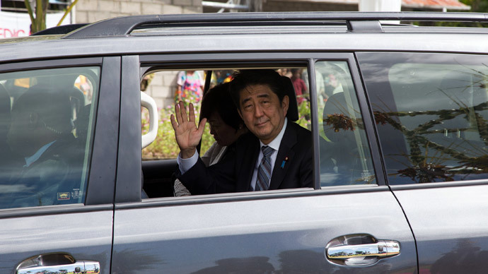Japan's Prime Minister Shinzo Abe.(AFP Photo / Ness Kerton)