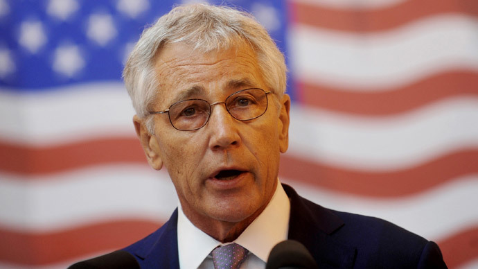 US Defence Secretary Chuck Hagel (AFP Photo / Radu Tuta)