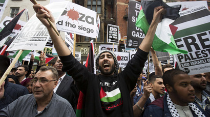Crowds protest BBC 'biased reporting' on Gaza (PHOTOS, VIDEO)