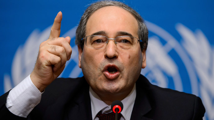 Syrian Deputy Foreign Minister Faisal Meqdad.(AFP Photo / Fabrice Coffrini)