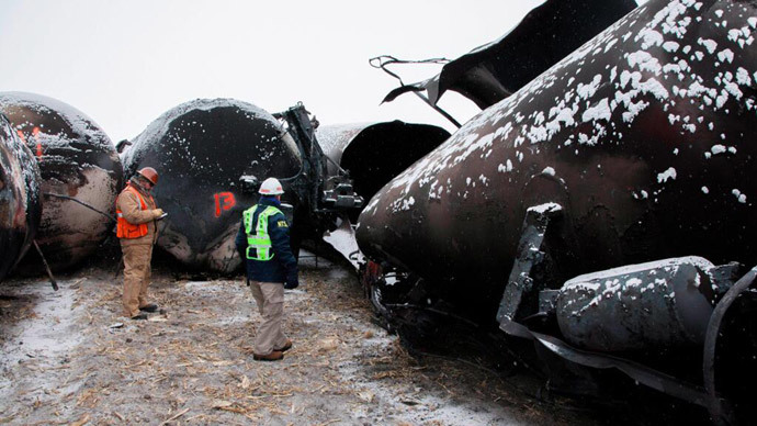 String of oil train disasters prompts review of US safety rules