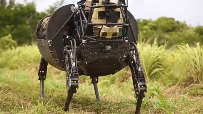 'Pack-mule' bot follows marines into combat training (VIDEO)