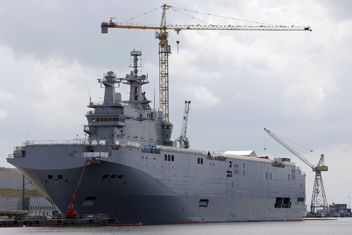 The Mistral-class helicopter carrier (Reuters/Stephane Mahe)