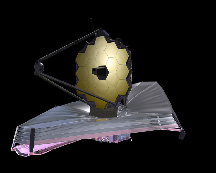 The James Webb Space Telescope (artist's concept above) will be one of the primary instruments scientists use to continue the search for planets outside our Solar System. (Image from nasa.gov)