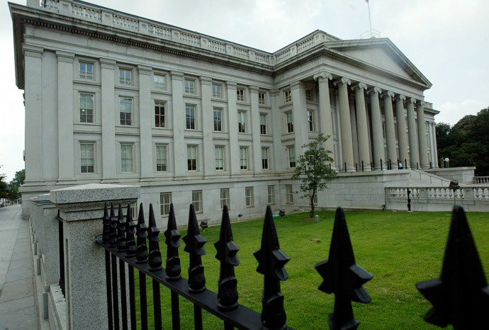 US Treasury Building in Washington, DC.(AFP Photo / Brendan Smialowski)