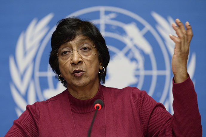 UN High Commissioner for Human Rights Navi Pillay (AFP Photo / Fabrice Coffrini)