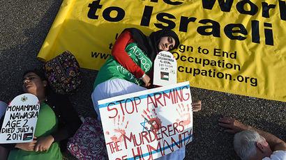 Downtown New York flooded with thousands protesting Gaza op (PHOTOS)
