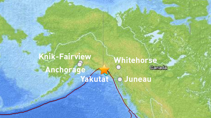 5.8 magnitude earthquake hits 95 km northwest of Yakutat, Alaska