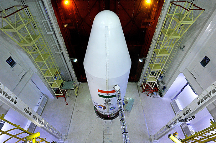 PSLV-C25 rocket carrying the Mars Orbiter Spacecraft (AFP Photo)