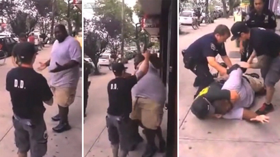 NYPD cops use illegal chokehold on suspected subway farebeater (VIDEO)