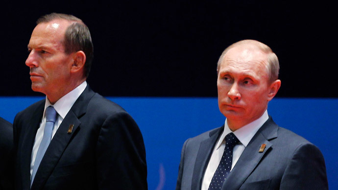 Australian PM hints Putin may dropped from G20 summit over MH17 crash