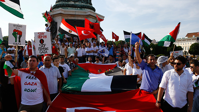 Thousands take to the streets of Vienna in Gaza protest (PHOTOS, VIDEO)