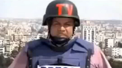 Journalist attacked by 'angry Israeli' during live report on Gaza (VIDEO)