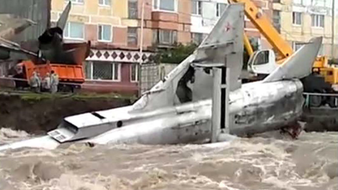Plane drain: Soviet MiG fighters end up in river after flood in Russian city (PHOTOS, VIDEO)