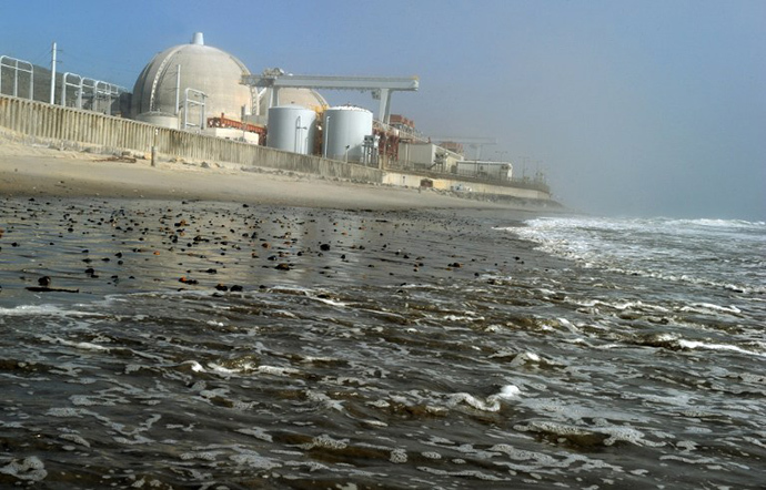 View of the San Onofre Nuclear Power Plant in north San Diego County (AFP Photo / Mark Ralston)