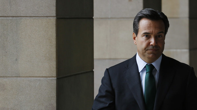 "LBG chief executive, Antonio Horta-Osorio, prepares to oversee the payment of up to £300m as a result of the banks' role in alleged Libor rigging. The Libor scandal, in which a plethora of financial institutions were implicated, has been dubbed the ""crime of the century"". (Reuters/Luke MacGregor)"