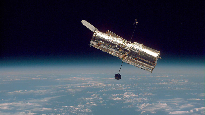 This photograph of NASA's Hubble Space Telescope was taken on the second servicing mission to the observatory in 1997. Credit: NASA