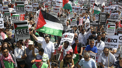 The Right to Resist: 5,000 rally for Palestine in Brussels, Israel gets 500