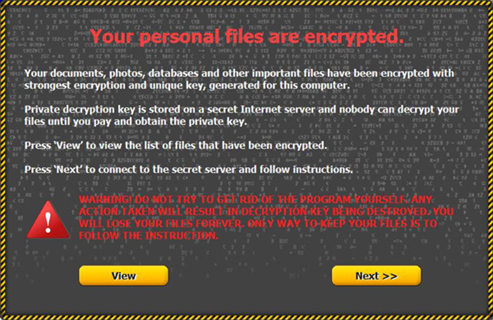 Critroni ransom demand screen. (Image from Kaspersky Labs)