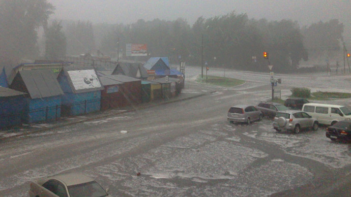 Hit by Hailstones: Heavy storm causes injuries, damage in Russian's Altay Region