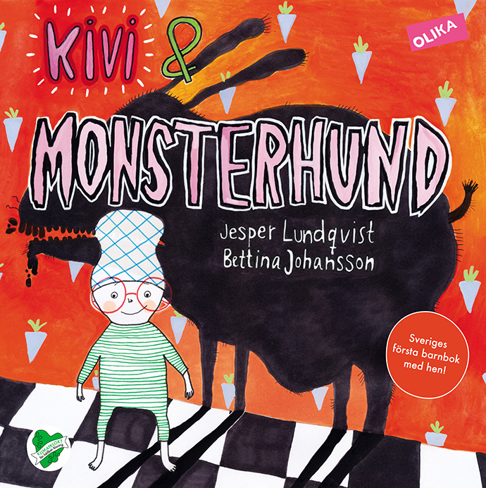 First Swedish book with the gender-neutral pronoun 'hen' – the inscription on the 2012 children's book 'Kivi & Monsterhund'