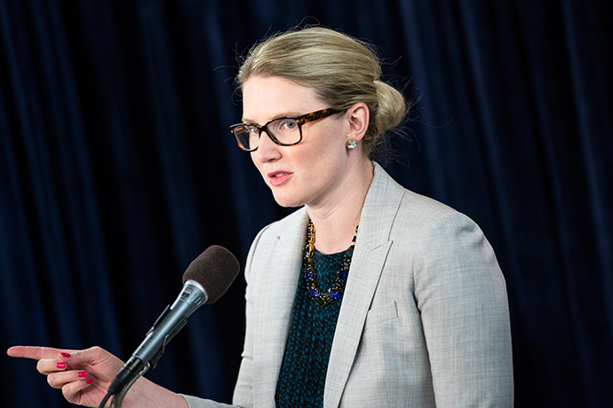State Department Deputy Spokeswoman Marie Harf (AFP Photo / Brendan Smialowski)