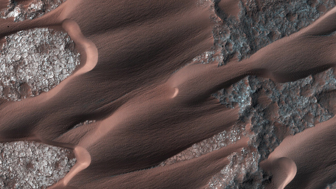 Nili Patera, one of the most active dune fields on the planet Mars is shown in this handout photo taken by NASA's Mars Reconnaissance Orbiter March (Reuters / NASA / JPL-Caltech / Univ. of Arizona/Handout via Reuters)