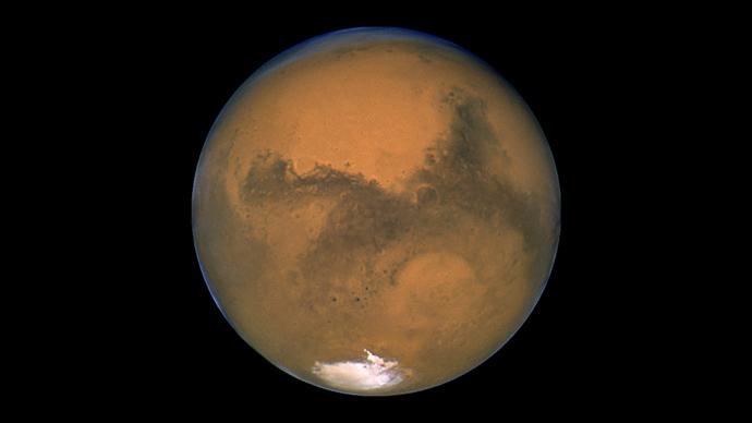 NASA's Hubble Space Telescope snapped this portrait of Mars within minutes of the planet's closest approach to Earth in nearly 60,000 years in this picture taken by NASA (Reuters / NASA / Handout via Reuters)