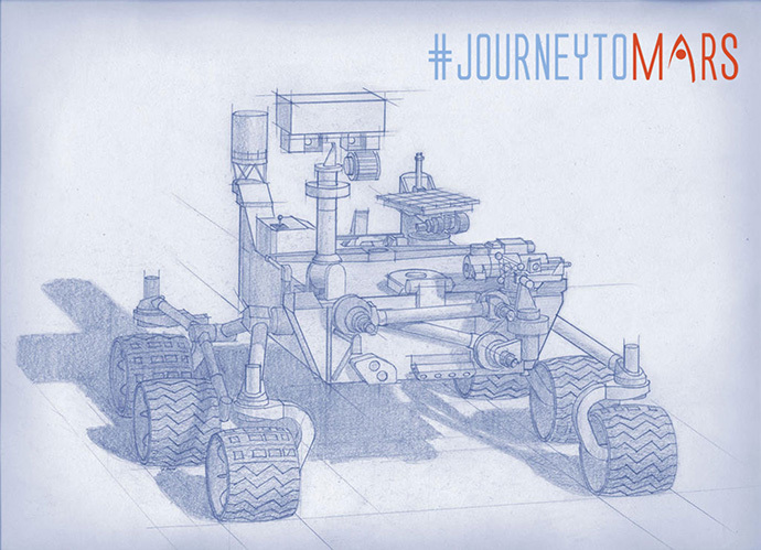Planning for NASA's 2020 Mars rover envisions a basic structure that capitalizes on the design and engineering work done for the NASA rover Curiosity, which landed on Mars in 2012, but with new science instruments selected through competition for accomplishing different science objectives. (Image Credit: NASA/JPL-Caltech)