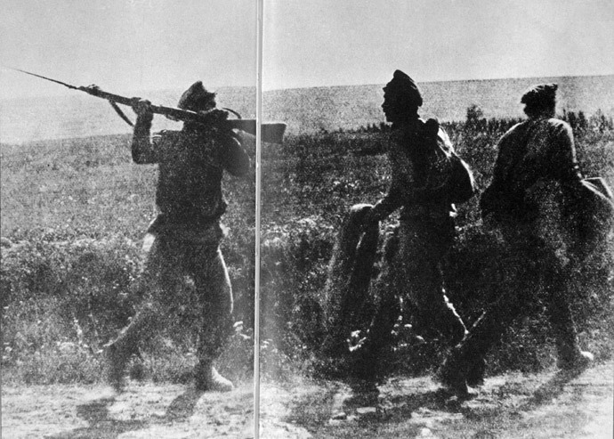 Soldiers of a battalion created to fight deserters in World War I. (RIA Novosti)