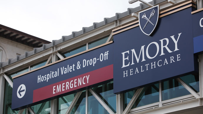 Emory University Hospital.(AFP Photo / Jessica McGowan)