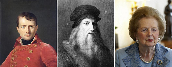 Napoleon, Leonardo, Thatcher - three major figures who allegedly skimped on their night rests.