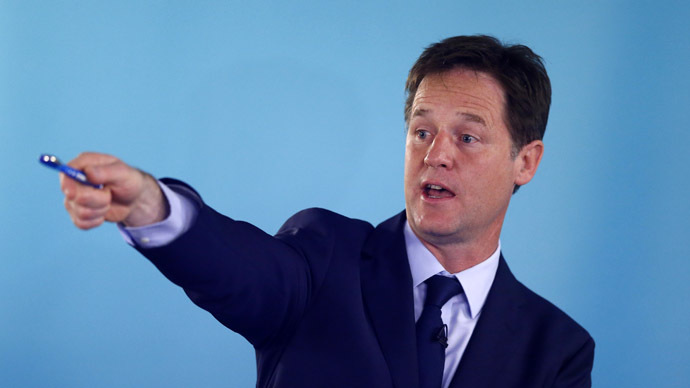 Clegg attacks EU immigration in policy shift ahead of election