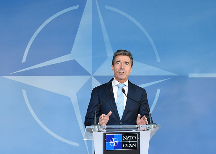 Secretary-General of the North Atlantic Treaty Organization (NATO) Anders Fogh Rasmussen (AFP Photo / John Thys)