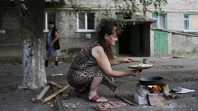 Humanitarian catastrophe: Lugansk, E. Ukraine, left with no water, power
