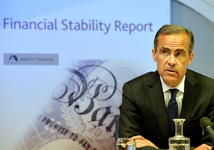 Governor of the Bank of England, Mark Carney, recently warned Britain's inflated housing market posed a threat to Britain's economic recovery. (AFP Photo / John Stillwell)
