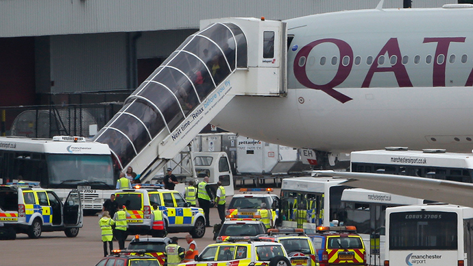RAF escorts down airliner over Manchester in 'bomb hoax'