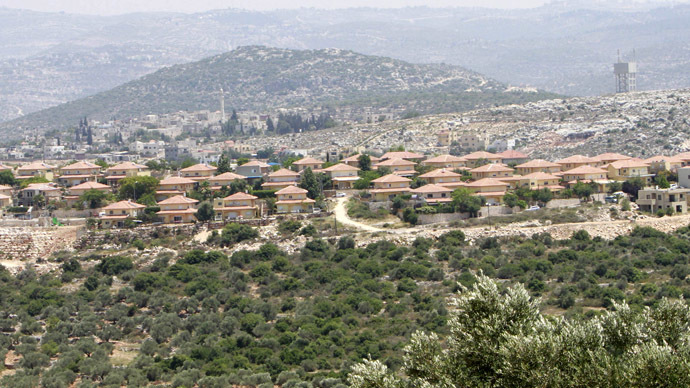 Brukhim, a Jewish settlement located near the West Bank village of Kufr al-Deek. British firm, JCB, provides bulldozers and other vehicles to the Israeli administration that are used to demolish Palestinian houses in preparation for the building of Israeli settlements. (Reuters/Abed Omar Qusini)