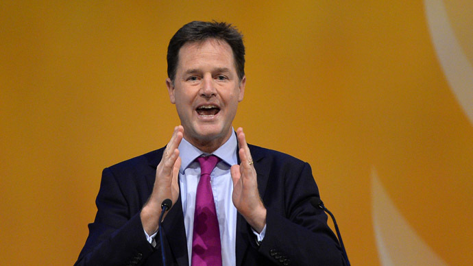 "Britain's Deputy Prime Minister, Nick Clegg, warns Israel's military offensive in Gaza has ""overstepped the mark."" (Reuters/Russell Cheyne)"