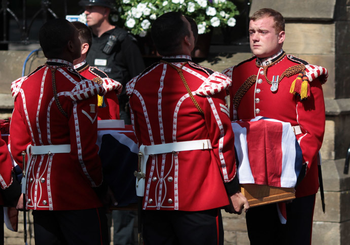 The Wikipedia page documenting the case of Lee Rigby, a soldier who was attacked and killed in 2013, has been edited by anonymous government officials.(AFP Photo / Lindsey Parnaby)