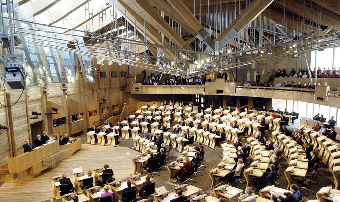 Scottish Parliament.(AFP Photo / Andrew Milligan)