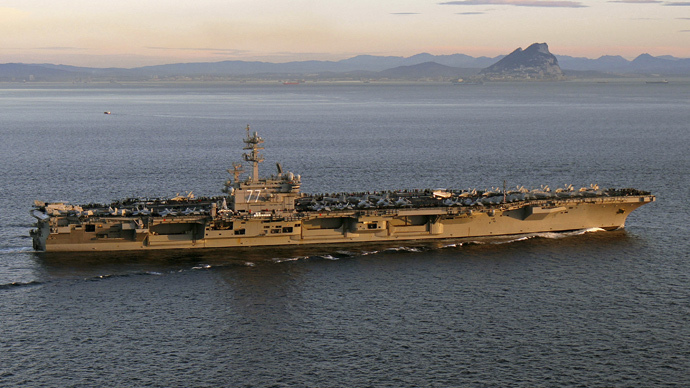 The aircraft carrier USS George H. W. Bush (Reuters / U.S. Navy / Lt. Juan David Guerra / Handout via Reuters)