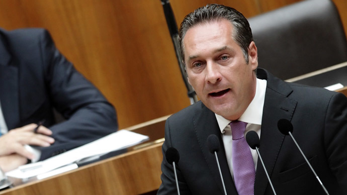 Head of Austrian Freedom Party (FPOe) Heinz-Christian Strache (Reuters/Heinz-Peter Bader)