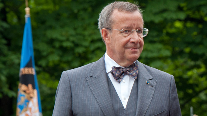 Estonian President Toomas Hendrik Ilves (AFP Photo/Ragio Pajula)