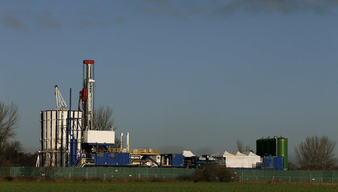 People living near to the Barton Moss IGas drilling site in Northern England are very concerned about loss of value in their house prices due to fracking in the district. (Reuters/Phil Noble)
