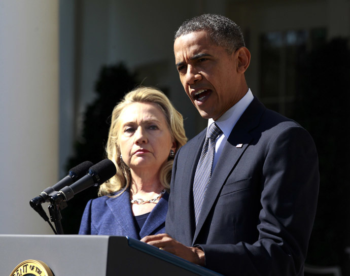 U.S. President Barack Obama and Hillary Clinton (Reuters/Jason Reed)