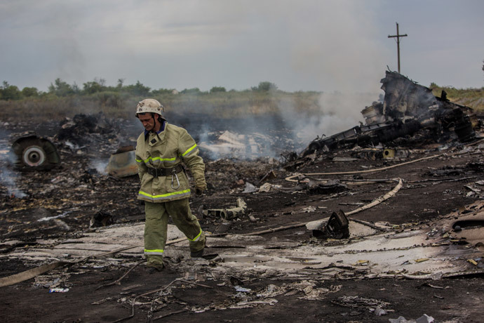 The crash site of the Malaysian Boeing 777 outside Shakhtyorsk, Donetsk Region. (RIA Novosti / Andrey Stenin)