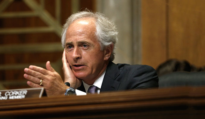 Senate Foreign Relations Committee ranking member Sen. Bob Corker (R-TN) (AFP Photo / Win Mcnamee)