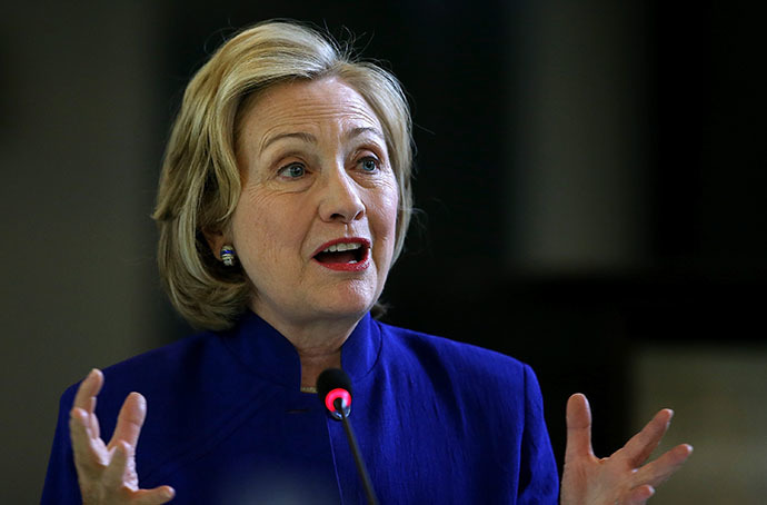 Former Secretary of State Hillary Clinton (AFP Photo / Getty Images / Justin Sullivan)