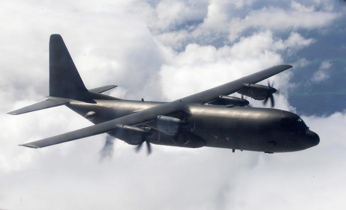 RAF C130 Hercules (Reuters / Luke MacGregor)